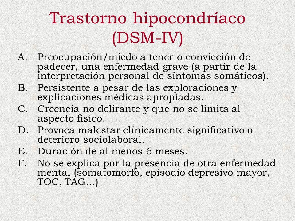 Trastorno hipocondríaco (DSM-IV)