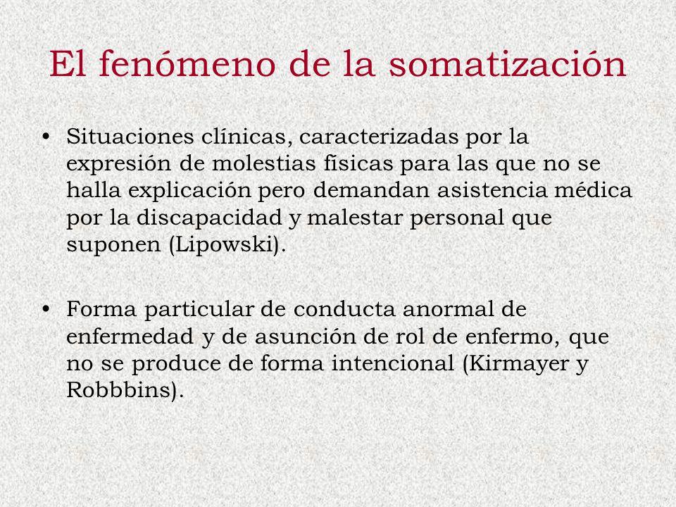 El fenómeno de la somatización