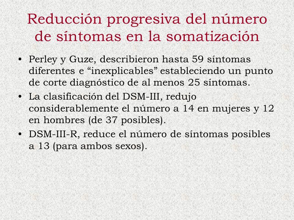 Reducción progresiva del número de síntomas en la somatización