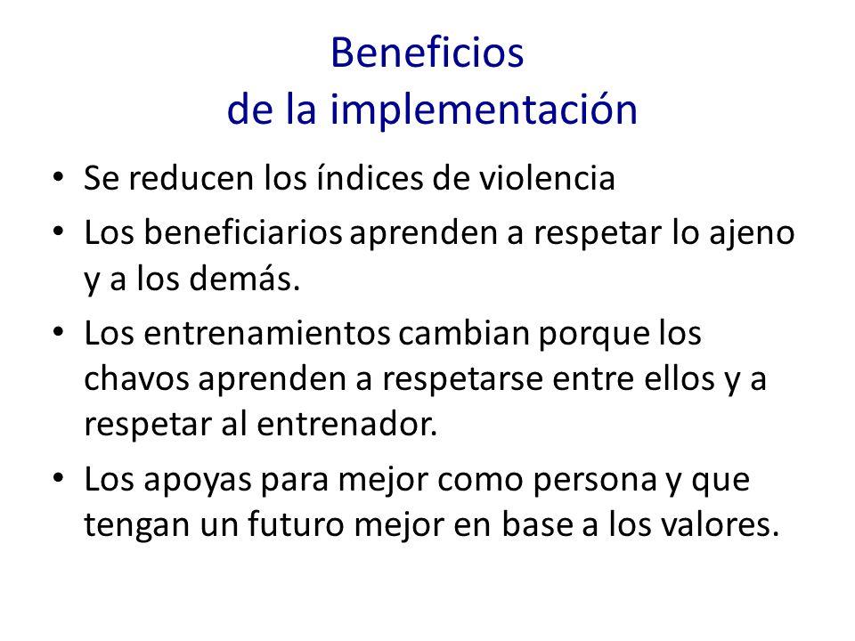 Beneficios de la implementación