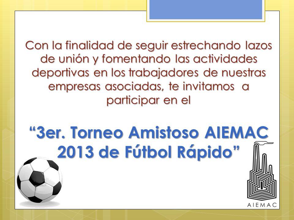 3er. Torneo Amistoso AIEMAC 2013 de Fútbol Rápido