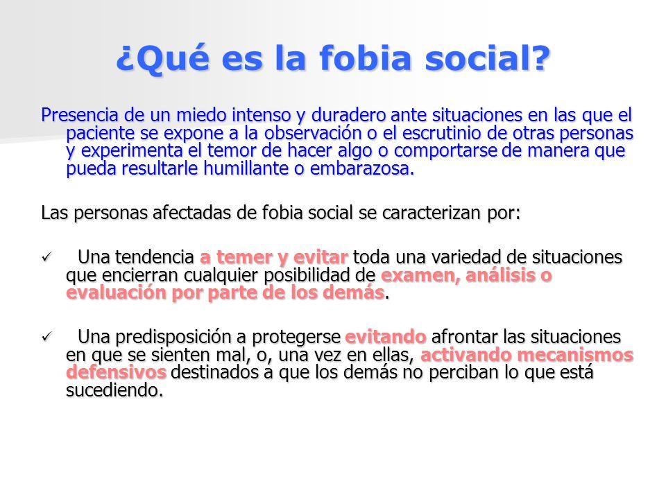 ¿Qué es la fobia social