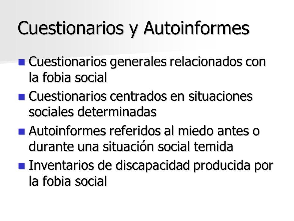 Cuestionarios y Autoinformes