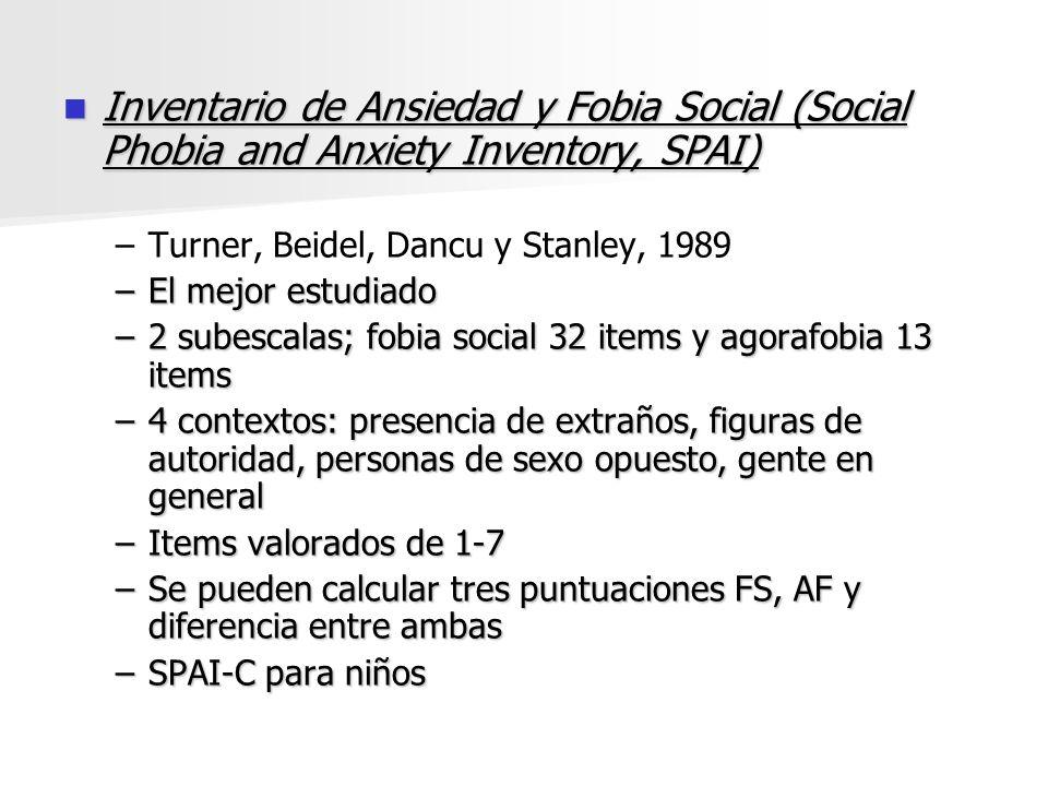 Inventario de Ansiedad y Fobia Social (Social Phobia and Anxiety Inventory, SPAI)