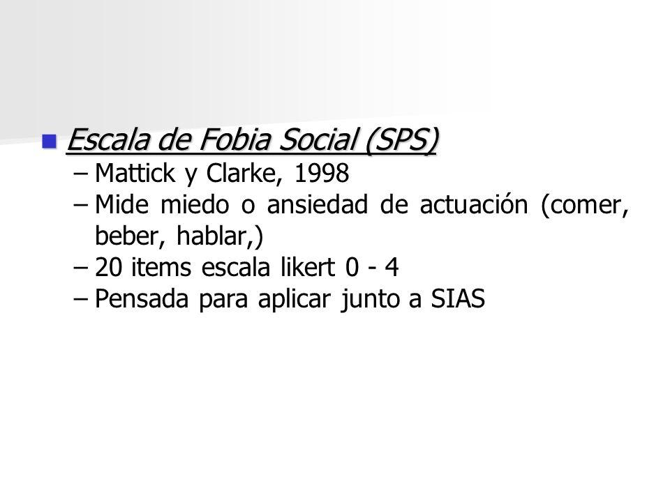 Escala de Fobia Social (SPS)