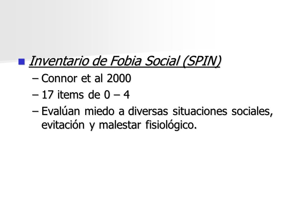 Inventario de Fobia Social (SPIN)