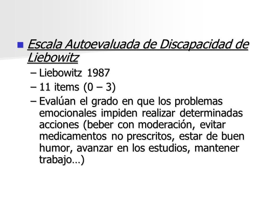 Escala Autoevaluada de Discapacidad de Liebowitz