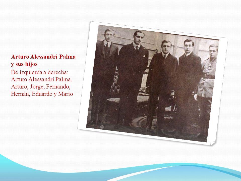 Arturo Alessandri Palma y sus hijos