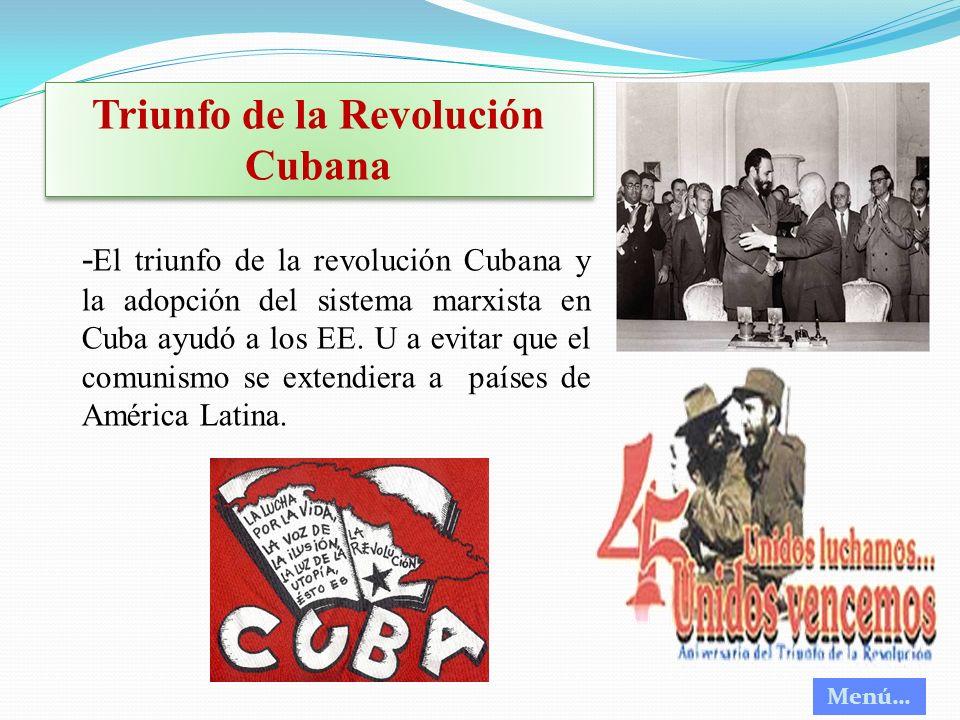 Triunfo de la Revolución Cubana
