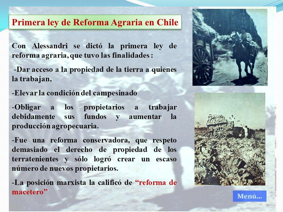 Primera ley de Reforma Agraria en Chile