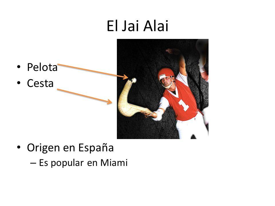El Jai Alai Pelota Cesta Origen en España Es popular en Miami