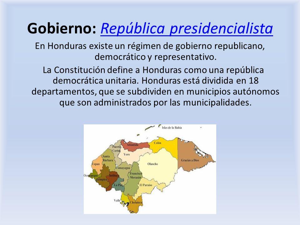 Gobierno: República presidencialista