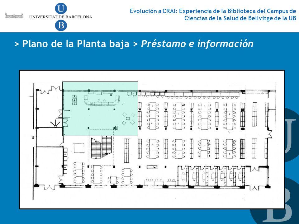 > Plano de la Planta baja > Préstamo e información