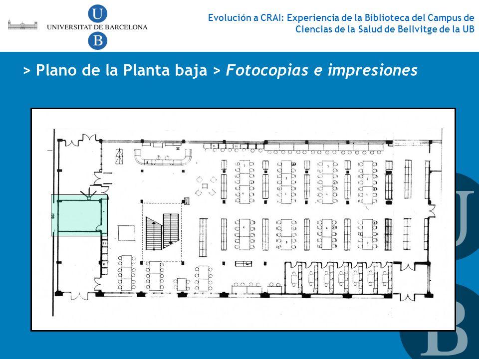 > Plano de la Planta baja > Fotocopias e impresiones