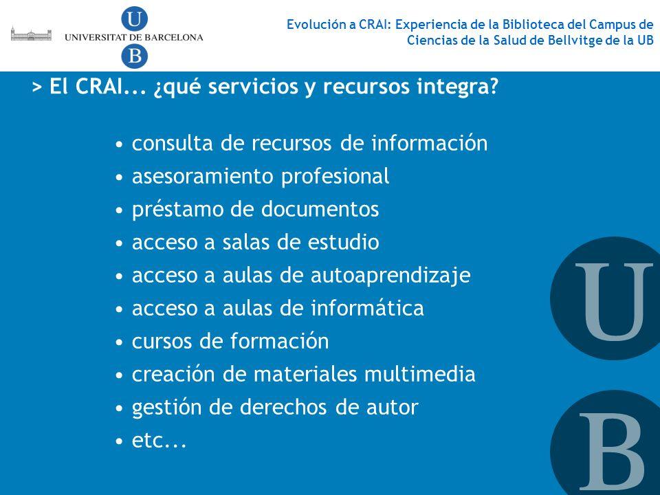 > El CRAI... ¿qué servicios y recursos integra