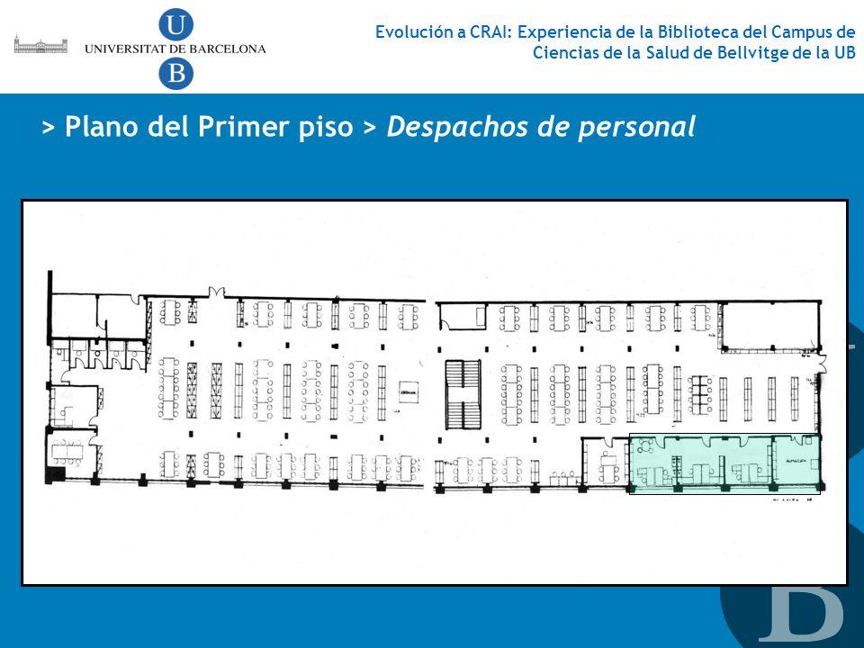 > Plano del Primer piso > Despachos de personal