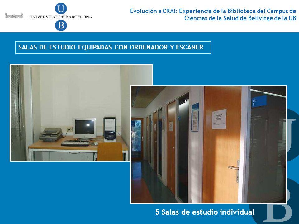 5 Salas de estudio individual