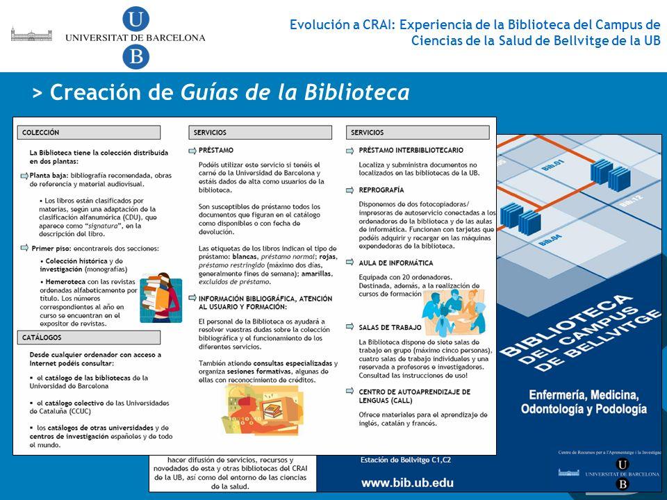 > Creación de Guías de la Biblioteca
