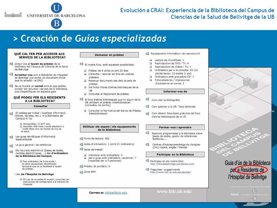 > Creación de Guías especializadas