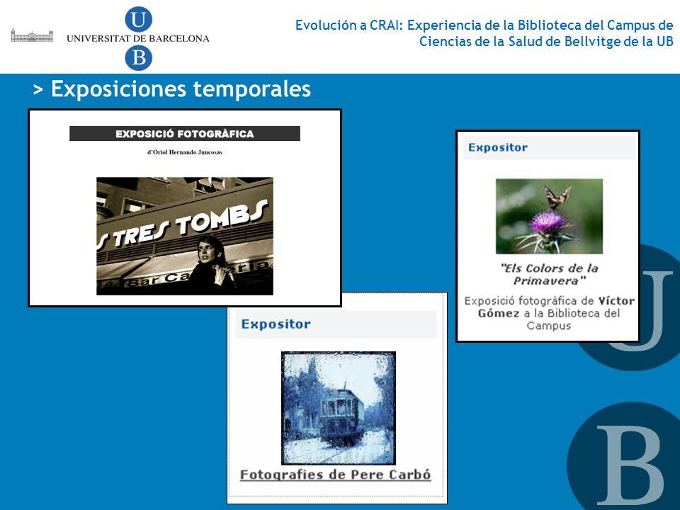 > Exposiciones temporales