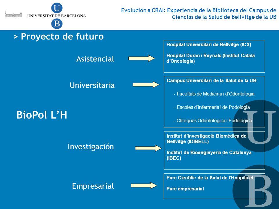 BioPol L'H > Proyecto de futuro Asistencial Universitaria
