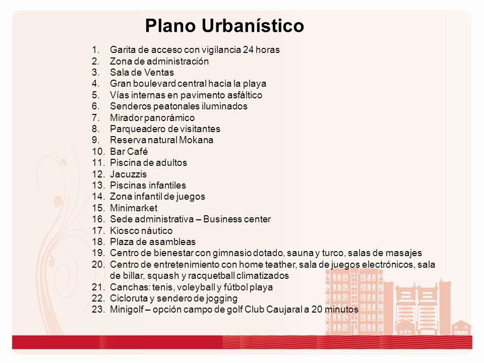 Plano Urbanístico Garita de acceso con vigilancia 24 horas