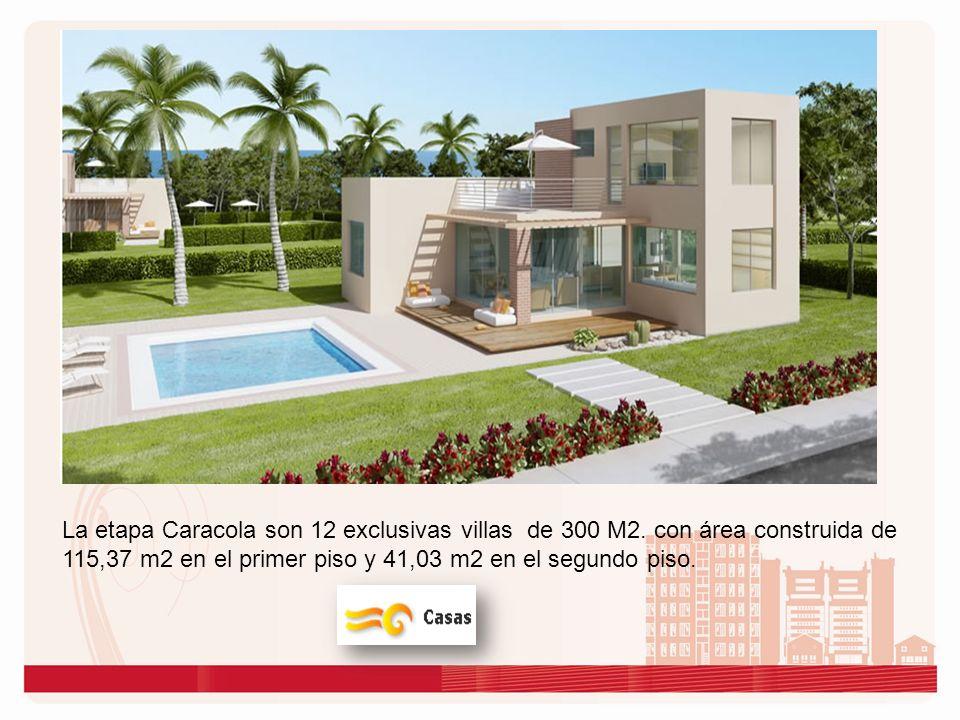 La etapa Caracola son 12 exclusivas villas de 300 M2