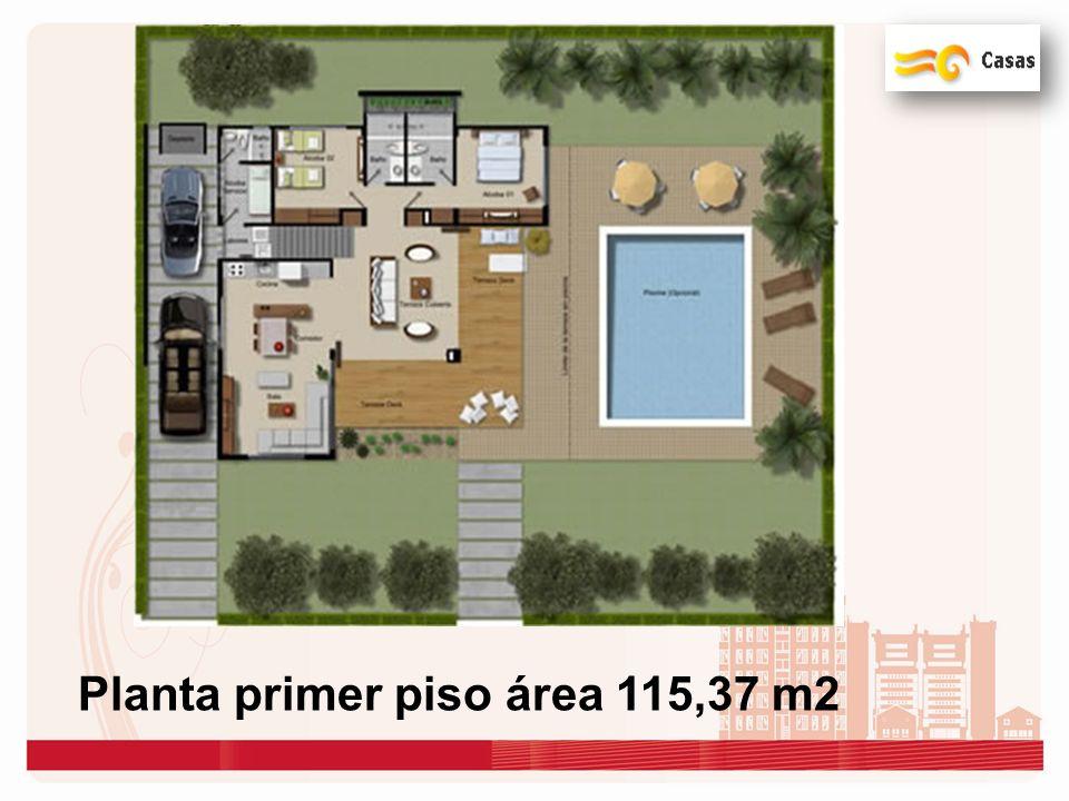 Planta primer piso área 115,37 m2