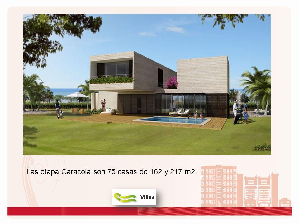 Las etapa Caracola son 75 casas de 162 y 217 m2.