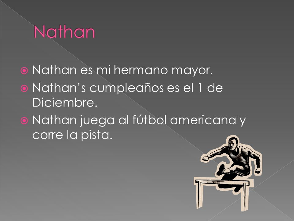 Nathan Nathan es mi hermano mayor.