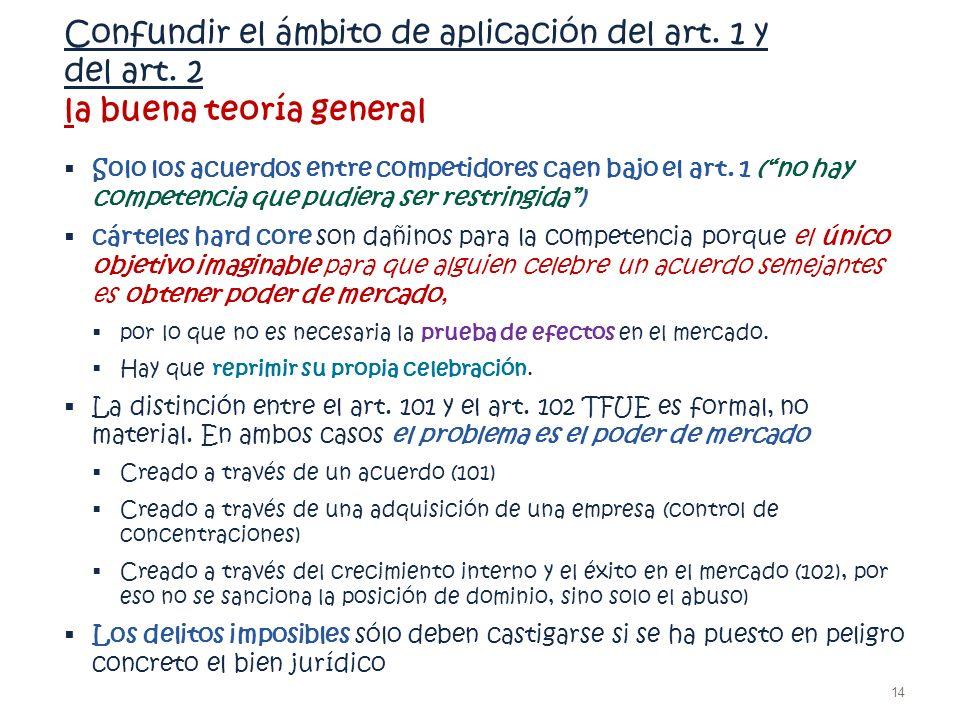 Confundir el ámbito de aplicación del art. 1 y del art