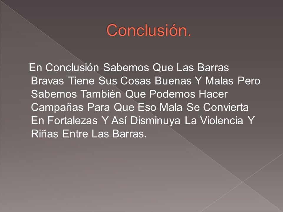 Conclusión.