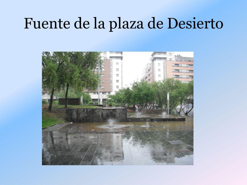 Fuente de la plaza de Desierto