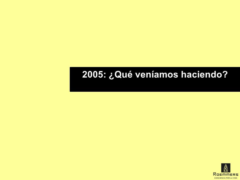 2005: ¿Qué veníamos haciendo
