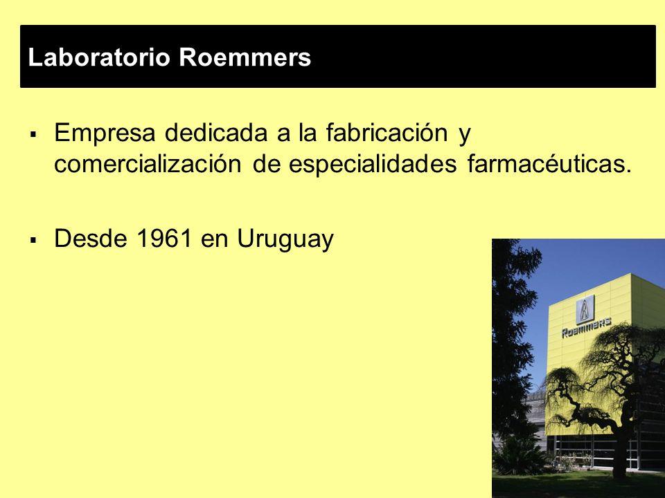 Laboratorio Roemmers Empresa dedicada a la fabricación y comercialización de especialidades farmacéuticas.