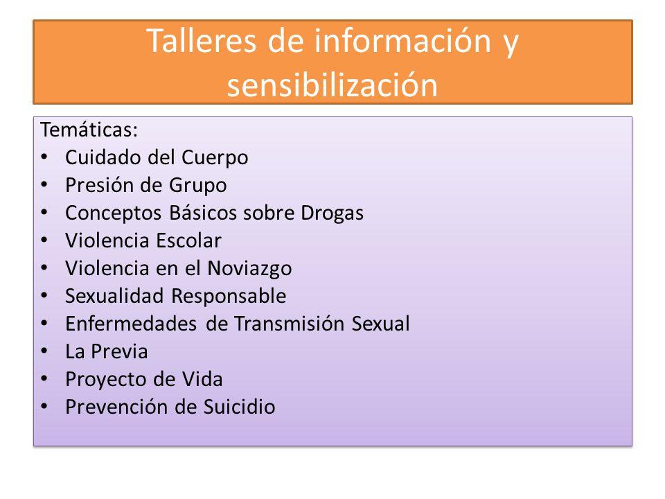 Talleres de información y sensibilización
