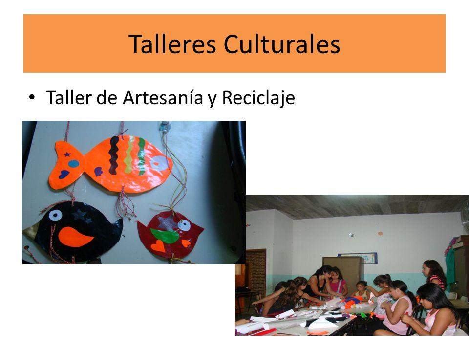 Talleres Culturales Taller de Artesanía y Reciclaje