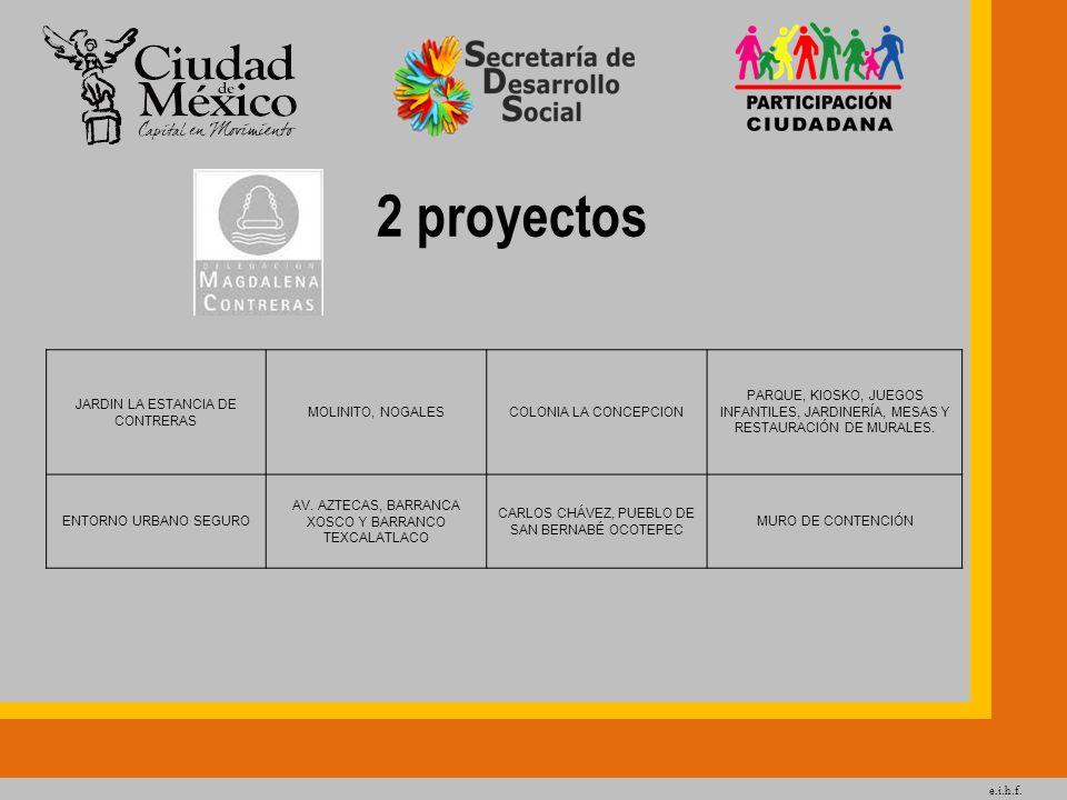2 proyectos JARDIN LA ESTANCIA DE CONTRERAS MOLINITO, NOGALES
