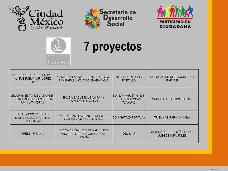 7 proyectos FILTRACION DE AGUA PLUVIAL AL SUBSUELO AMP LOPEZ PORTILLO