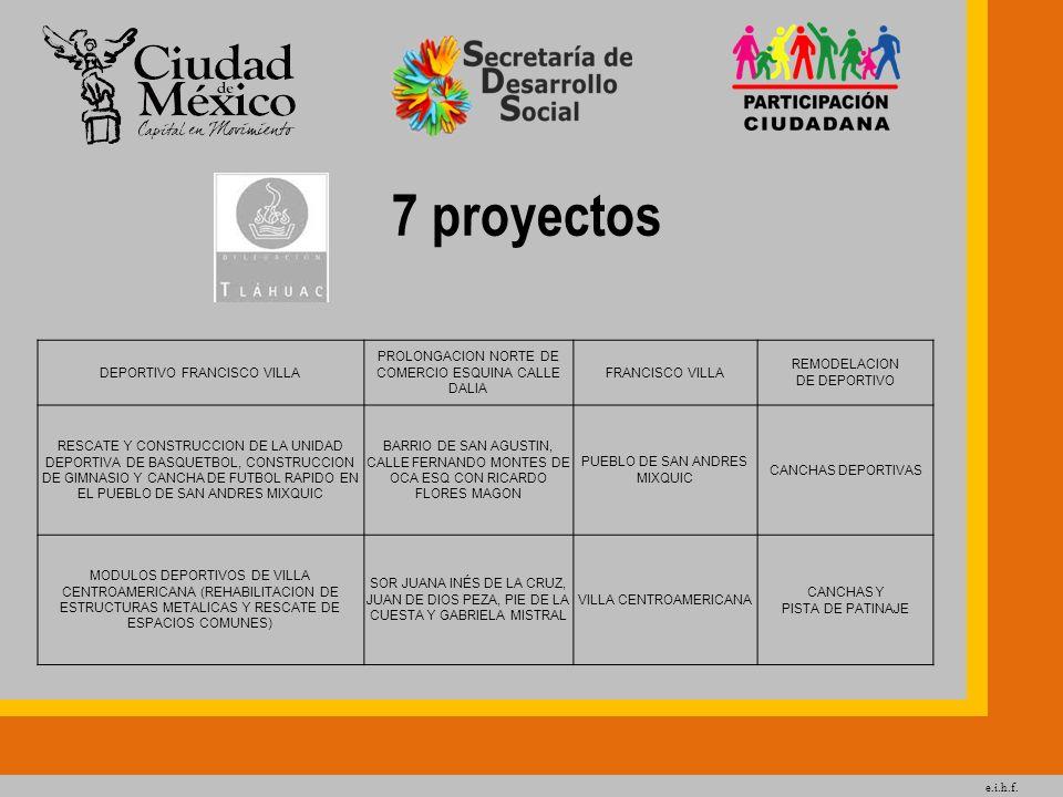 7 proyectos DEPORTIVO FRANCISCO VILLA