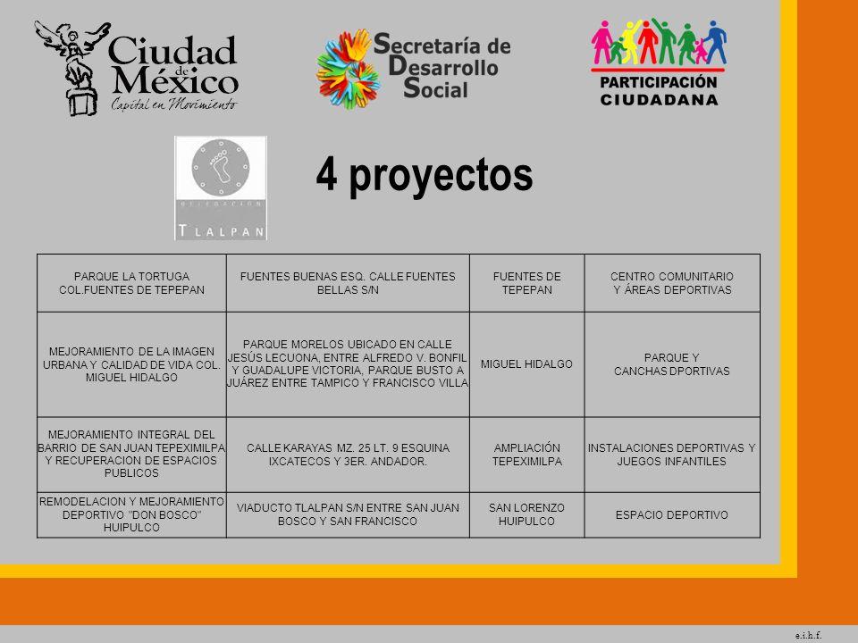 4 proyectos PARQUE LA TORTUGA COL.FUENTES DE TEPEPAN