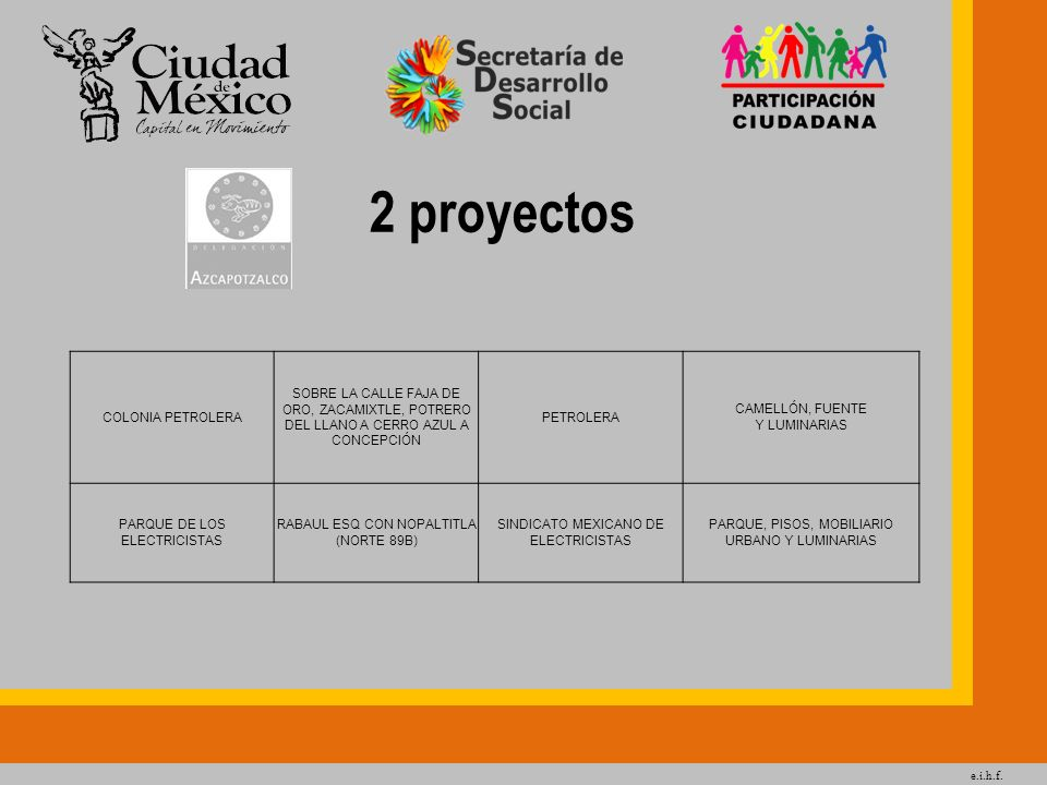 2 proyectos COLONIA PETROLERA
