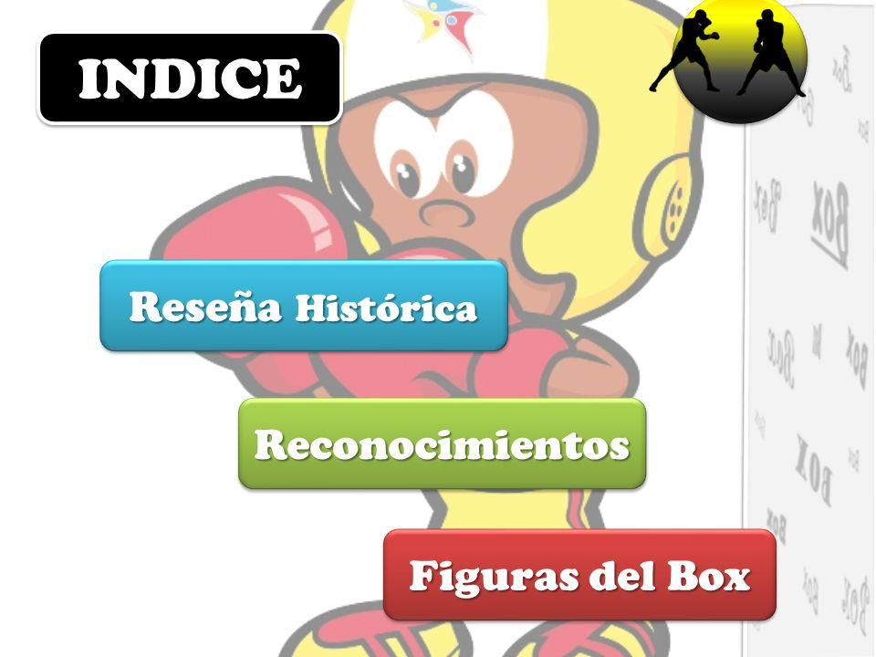 INDICE Reseña Histórica Reconocimientos Figuras del Box