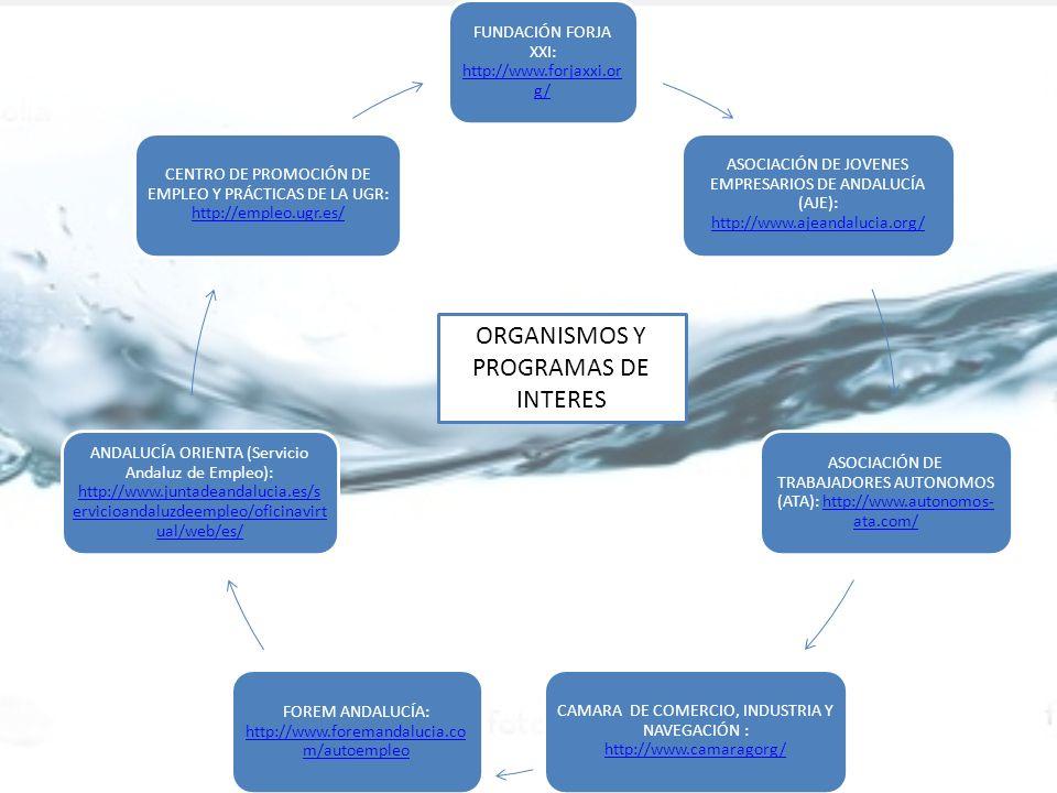 ORGANISMOS Y PROGRAMAS DE INTERES