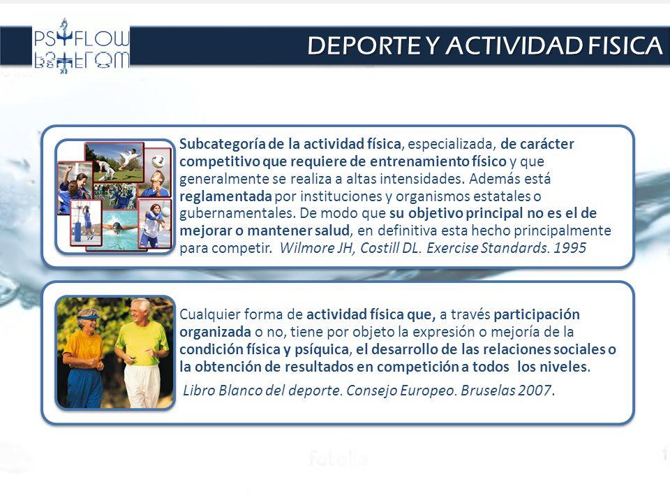 DEPORTE Y ACTIVIDAD FISICA