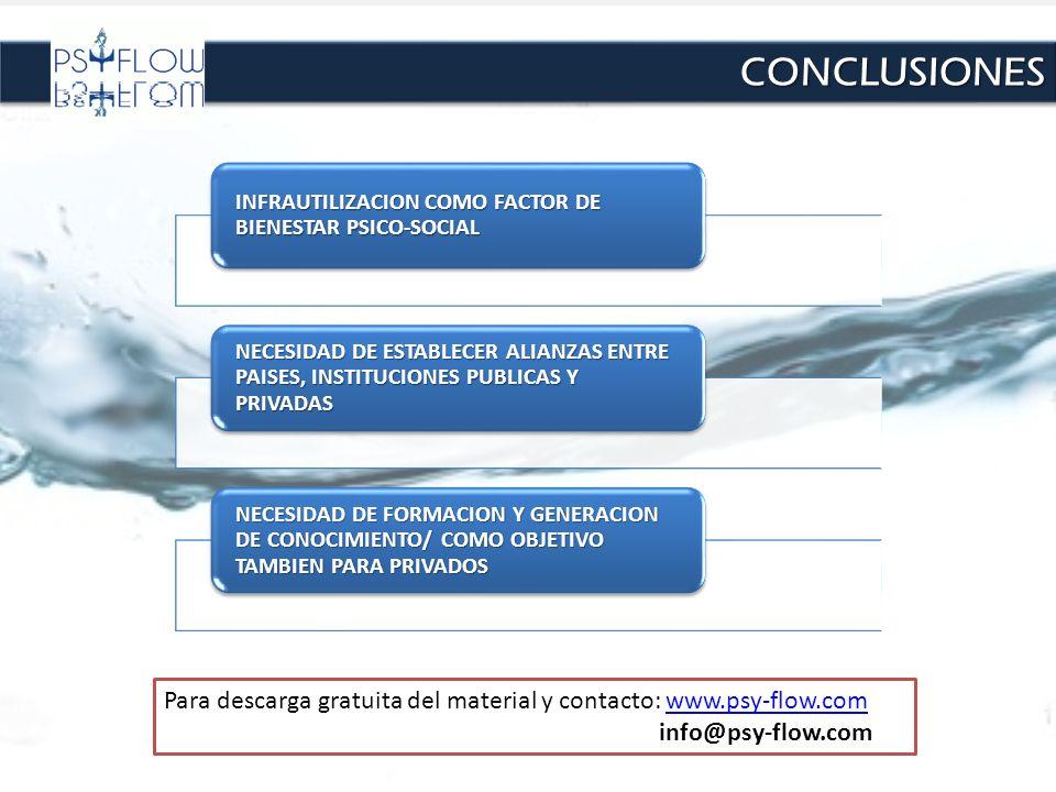 CONCLUSIONES INFRAUTILIZACION COMO FACTOR DE BIENESTAR PSICO-SOCIAL.