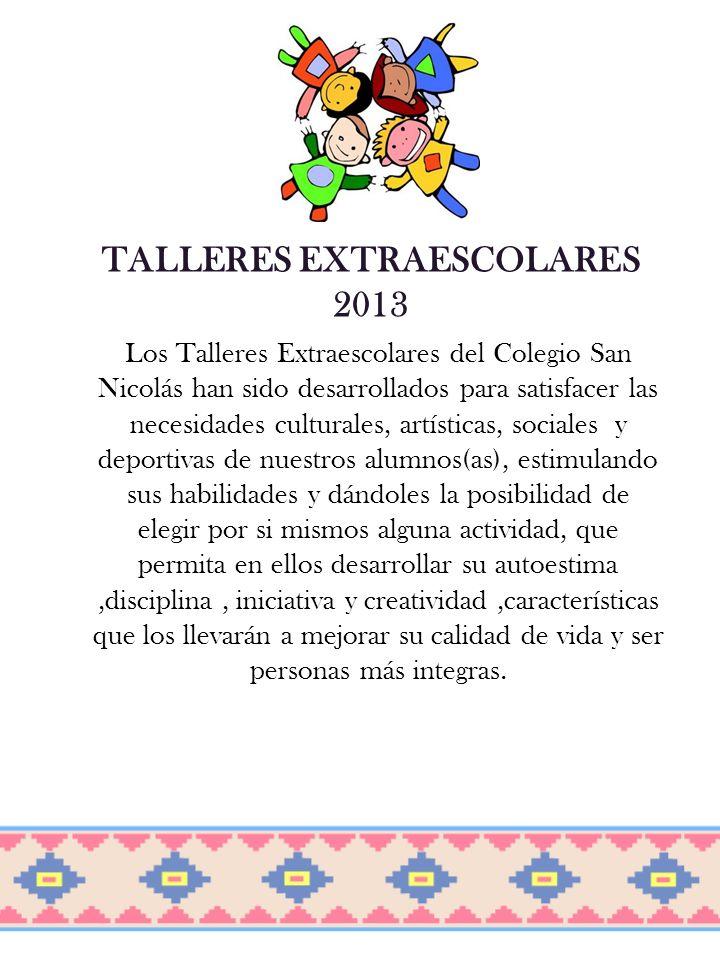 TALLERES EXTRAESCOLARES
