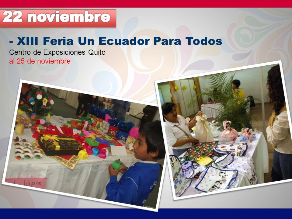 22 noviembre - XIII Feria Un Ecuador Para Todos