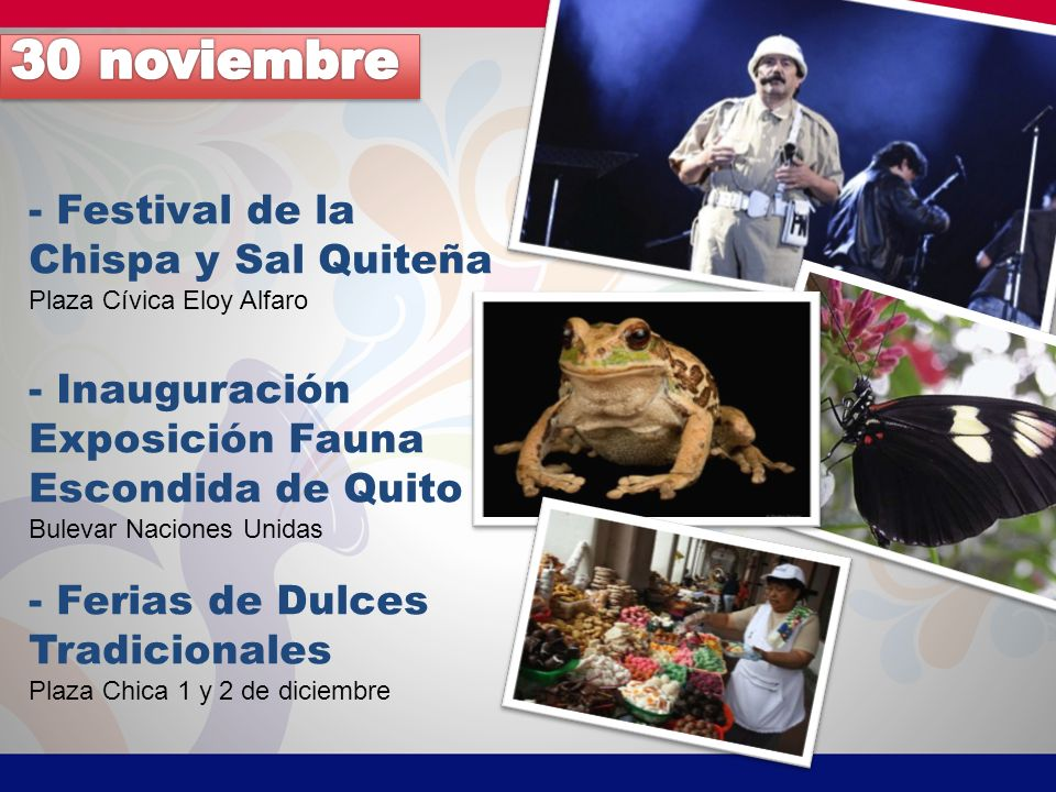 30 noviembre - Festival de la Chispa y Sal Quiteña