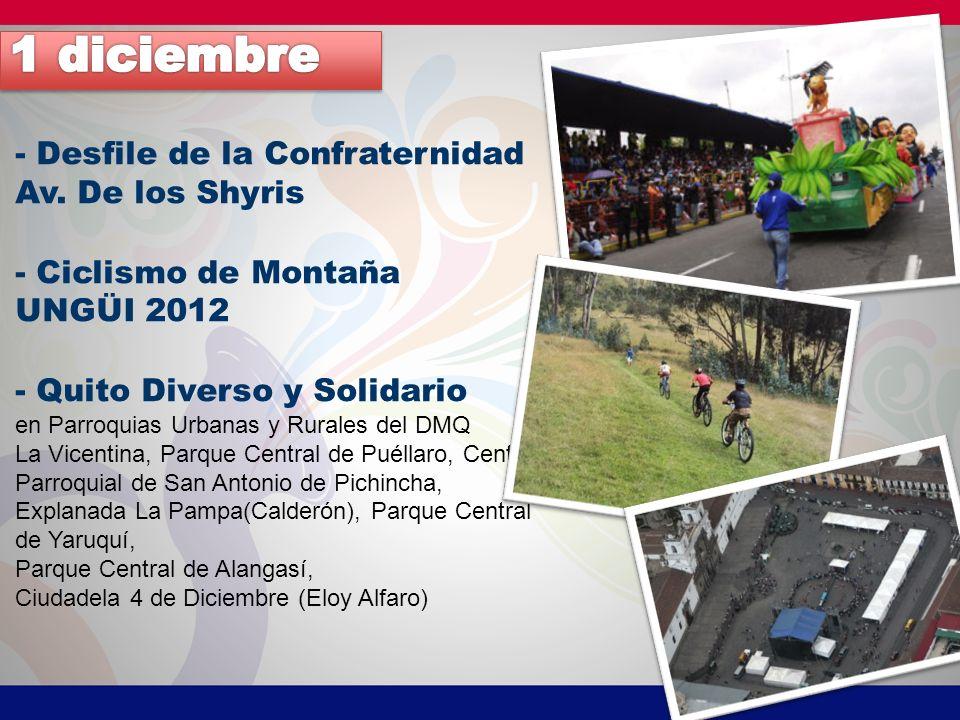 1 diciembre - Desfile de la Confraternidad Av. De los Shyris